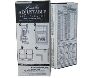 Duplex Adjustable Sash Balance